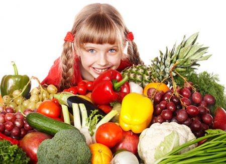Фрукты и овощи в рационе ребенка